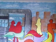 j train mural