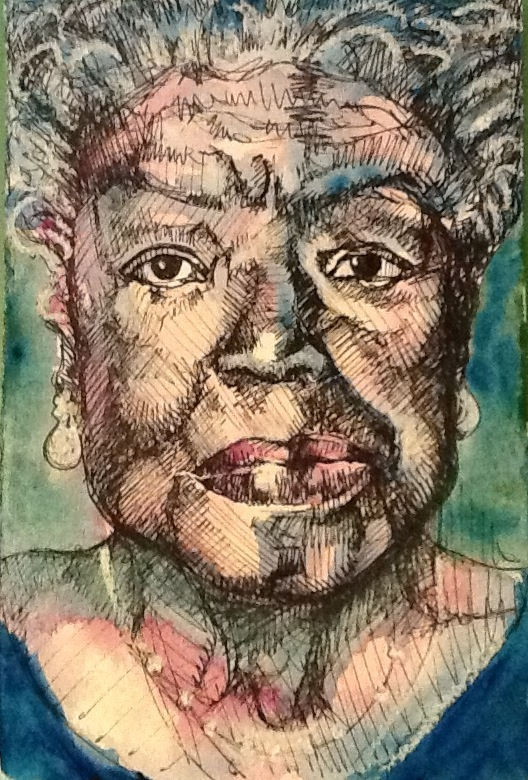 Maya Angelou portrait for Karmatube