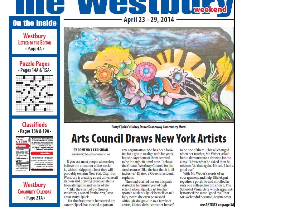 Westbury Times Artist profile (1/2)
