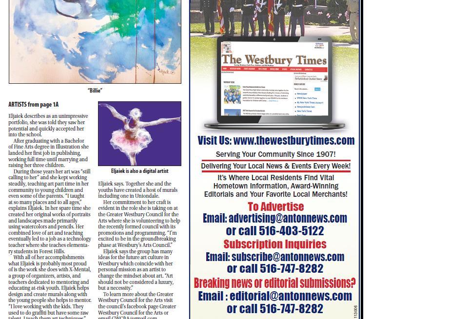 Westbury Times Artist profile (2/2)
