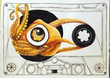 Retro Octopus